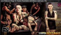 Straponsquad – Mar 25, 2016 – Jynx Hollywood Begs For Double Penetration With Mena Li And Lexy Villa