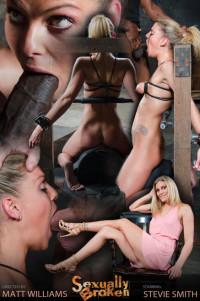 Stevie Smith – Shackled Skinny Sybian Slut Throatboarded By BBC (2015)