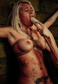 Marsha May Endures Lesbian Rope Bondage With Kylie Rogue