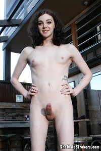 Sasha Skyes Cute Trans Girl Creams It Up All For You (2016)