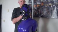 Purple Hobble Dress Torture