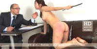 29 Y.o. Secretary Toria Spanked For Bad Report + Self Spanking.
