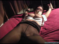 Christina Carter Is Chased, Caught, Carried And Cuffed Spreadeagle – Part 2