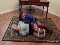 Jealous Bosslady Has Her Secretary Bound And Gagged For Kissing On The Job