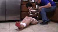 Bitchy Housewife Fastened & Gagged By The Plumber