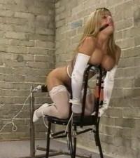 Beauty Blond Babe In Rough Bondage