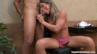 Tongue Fucking Her Nice Tranny Ass