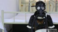 Latex Female Servant Gas Veil Femdom