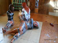 Sandra Silvers, Ruth Cassidy, AJ Marion Threesome Of Duct Taped Damsels