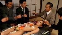 Ramu Nagatsuki Serves As A Sushi Table And Cums Multiple Times