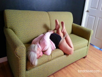 Frogtied Face-down Barefoot Ballgagged MOTHER ID LIKE TO FUCK Acquires Bondage Orgasm