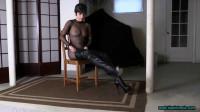 MashaSheer Catsuit And Thigh High Boots