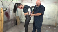 HunterSlair – Michelle Peters – Left Hanging By Her Cuffed Elbows