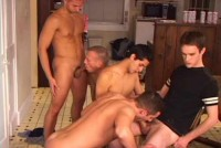 Amazing Five-man In Orgy