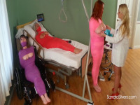 Nurse Lisa Gives Severe Breast Torture Therapy To Mummified Big-titted Amazon