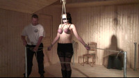 Slave Eve – Hard Flogging And Orgasm During The Time That Hanging From Her Breasts