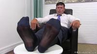 Joey Shows His Sheer Socks & Feet
