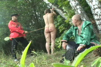 Russian Slaves Public Punished