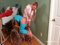 Nurse Lisa Gives Vivienne Aggressive Spanking Therapy As 3 Other Mummified