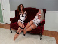 Classic Damsel-in-distress As Two Girdle-Bound Roommates Attempt Escape, Plus Ots