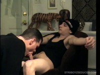 Straight Cory Gets Quickie Blowjob