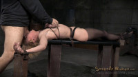 Sexy Blonde MILF Darling Huge Squirting Orgasms And Epic Deepthroat On BBC In Strict Bondage