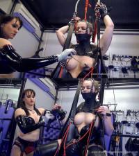 Hard Bondage, Strappado And Torture For Hot Sexy Slave Model