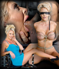 Big Titted Blonde Courtney Taylor Bound Blindfolded And Facefucked, Epic Drooling Deepthroating