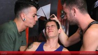 YoungBastards Abraham, David & Alec – Young Guy Wrecked To Fuck By Brutal XL-tops
