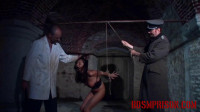 Natalia Endures BDSM Interrogation With Suspension And Flogging