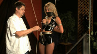 Super Bondage, Strappado And Torture For Beautiful Blonde In Latex