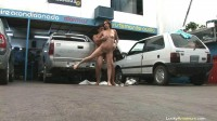 Amateur latina Cordoba car repair shop sex
