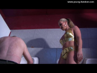 Young-femdom - Do the toilet clean with your tongue!