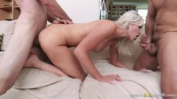 Threesome Sex Action With Horny Blonde Wife