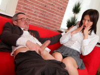 Download This tricky old teacher gets off on seeing two of his students make out