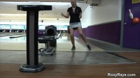 Sexy blonde decided to have a bowling alley in her anal. Puts the pins themselves in the ass.