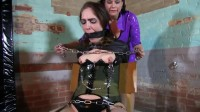 Super bondage, suspension, torture and hogtie for young slut