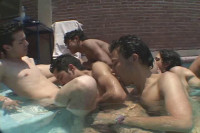 Latin Pool Orgy With Young Sluts