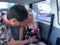 Car sex for blondie