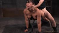 SexuallyBroken - Busty Mia Li belted down onto the s training board...