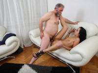 Download Tracy can't believe her luck when the old guy decides he wants to fuck her