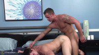 Passionate jumps of naked guys on a hard dick