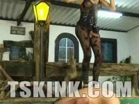 Bossy Tranny Mistress Dany de Castro - spank, mirror, large, domina