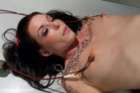 Hot 22year Candy Striper Stripped and Fucked with Medical Machines