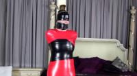 Tight bondage, domination and mummification for very hot model