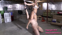 Cums on Human Swing while dangling chastity key