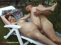 Outdoor pregnant sex movie