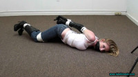 Meagan Tied in Opera Gloves and Knee Boots!