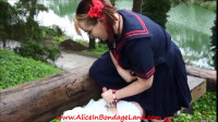 Public Park Sissy Bondage and Chastity Humiliation Schoolyard Bully