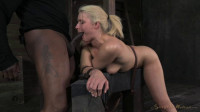 Beautiful blonde Anikka Albrite deep throats 10 inch Bbc